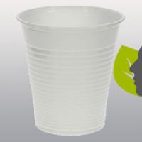 Bicchiere plastica bianco monouso