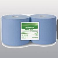 Bobina industriale microgoffrata blu